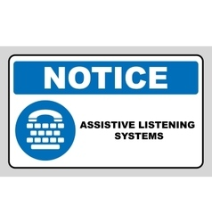 Assistive listening systems sign Medical vector