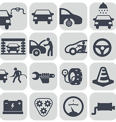 auto car icons set vector image