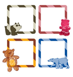 bear animal frames mammal teddy grizzly vector image