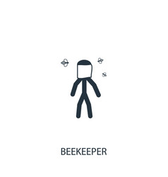 Beekeeper icon simple gardening element symbol vector
