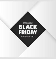 Black friday sale banner vector