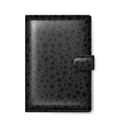 Black leather wallet on white background vector