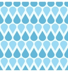 Blue falling water drops seamless pattern vector