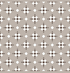 Brown white beige fair isle seamless geometric vector