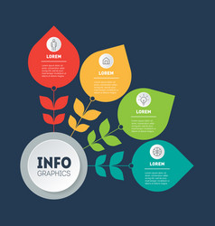 business presentation concept with 4 options or vector image
