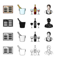 cafemanager restaurant and other web icon in vector image