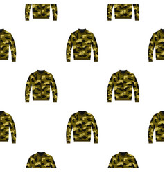 Camouflage jacket pattern flat vector