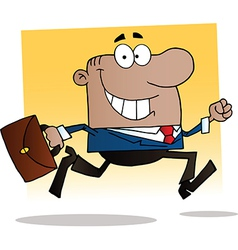 Cartoon business man vector image
