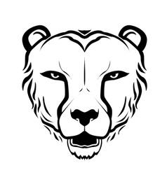 Cheetah head silhouette vector