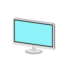 Computer monitor display symbol flat isometric vector