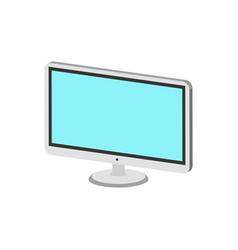 Computer monitor display symbol flat isometric vector