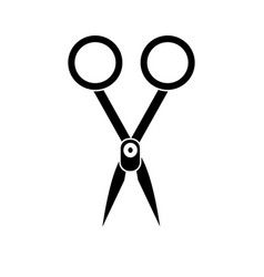Contour medical scissors tool surgery accessory vector