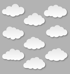 cut out paper clouds vector image