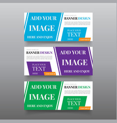diagonal banner design templates web banner vector image