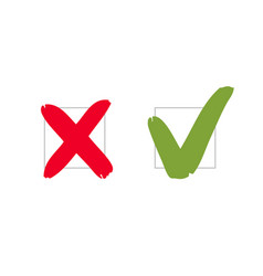 do and dont pros and cons check marks sign vote vector image