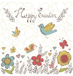 Elegant spring post card vector