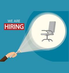 Employment recruitment announcement of hiring vector