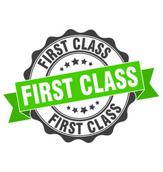 First class stamp sign seal vector