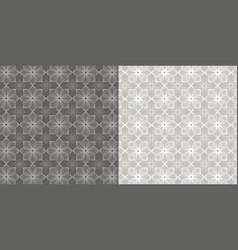 floral pattern beige and white background vector image