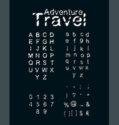 font type hand drawn typography alphabet vector image