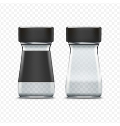 Glass Empty Jar Packaging Package Isolated vector image