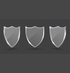 glass shield on transparent background protect vector image