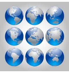 Globe Set vector image