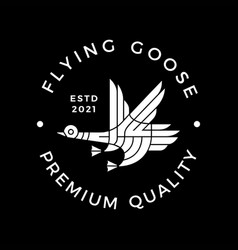 goose flying modern culture logo icon vector image