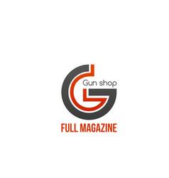 Gun shop icon vector