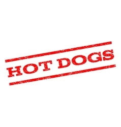 Hot dogs watermark stamp vector
