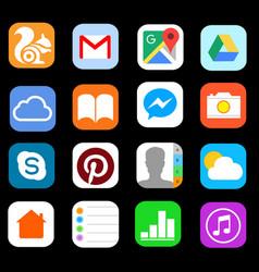 Icon smart phone vector