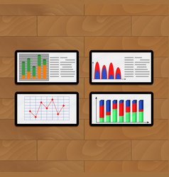 Infochart annual on tablets vector