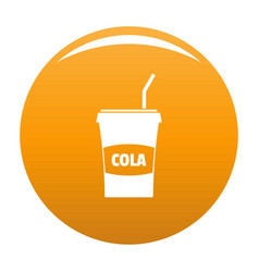 juice icon orange vector image