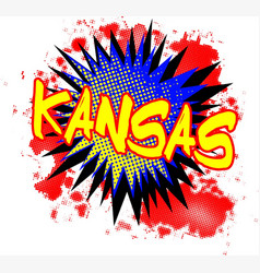 Kansas comic exclamation vector