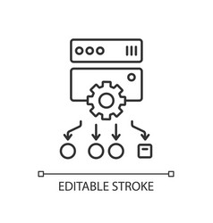 Load balancing linear icon vector