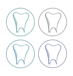 Logo tooth set vector