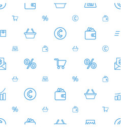 Market icons pattern seamless white background vector