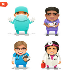 Medical professions set vector