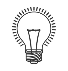 monochrome color with bulb light on vector image
