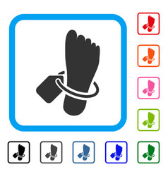 morgue tagged foot framed icon vector image