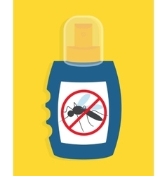 Mosquito free spray Insects repellent vector