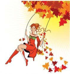 nature swing vector image