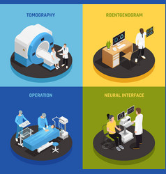 neurology concept icons set vector image