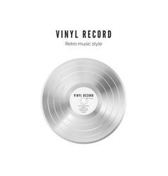 platinum record vinyl in white color audio album vector image