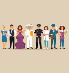 professions vector image