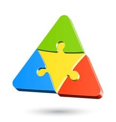 Puzzle triangle vector