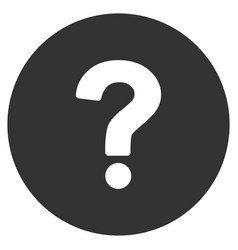 Query flat icon vector