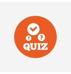 Quiz sign icon Questions and answers game vector image