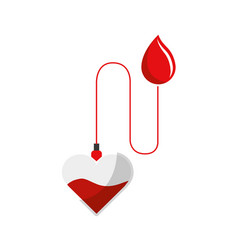 Red drop blood donation transfusion vector
