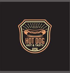 Retro food logo-badge-label-13 vector
